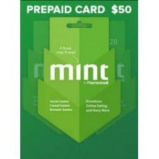بطاقه منت Mint 50 دولار